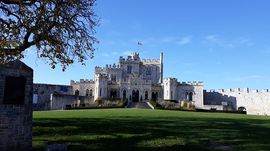 Dans le parc du château d'Hardelot.