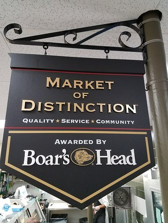 First Market of Distinction in Massachusetts awarded by Boar's Head