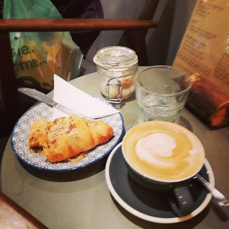Almond croissant and cappacino, happy days xxx