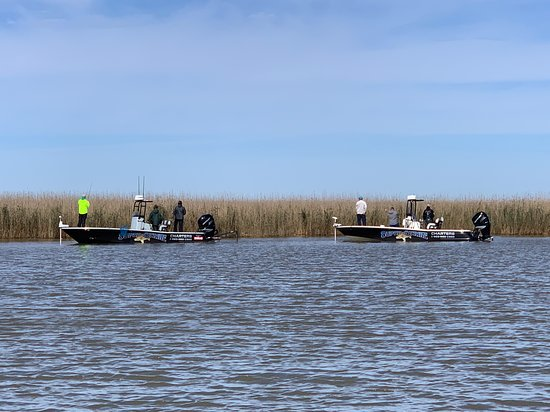 Super Strike inshore boats gettin on the redfish.,