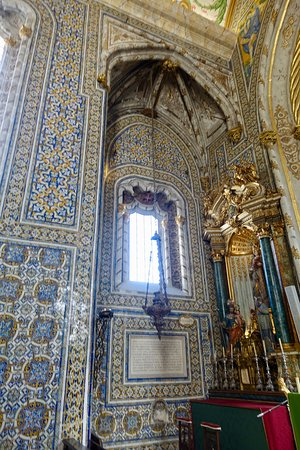 Azulejo tiles on walls
