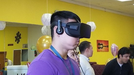 Immersed in virtual reality!