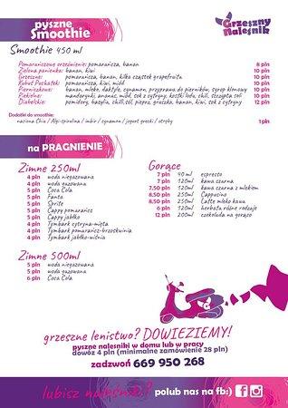 Grzeszny Nalesnik: menu