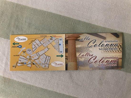 Trattoria alla Colonna: Il biglietto da visita