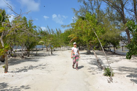 Walking to our beach front room