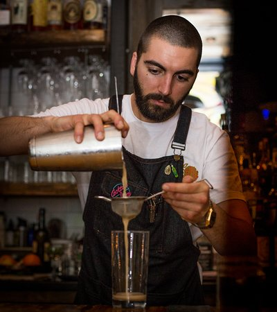 Tristan making one of our winter cocktails (photo cred: Dream Love Grow Media)