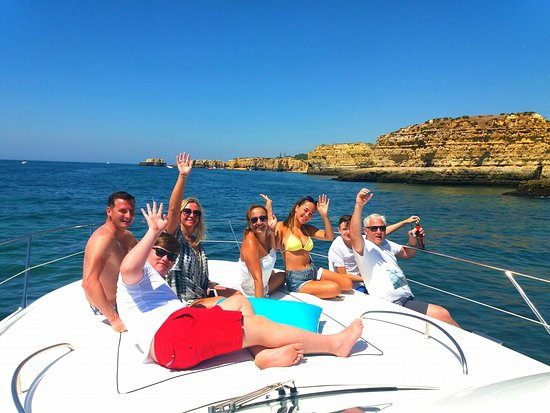 More happy guests enjoying the coast and caves of the Algarve