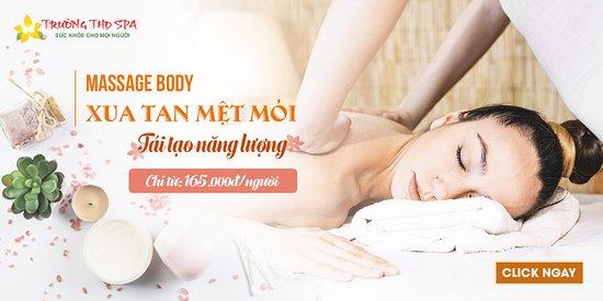 ♥️♥️ Dịch vụ massage toàn thân 60p (185.000vnđ) bao gồm:  👉 Massage đầu, vai, gáy  👉 Massage tay  👉 Massage chân  👉 Massage lưng  👉 Vận động toàn thân    💡Trường Thọ Spa MỞ CỬA: TỪ #9h00 đến #23h00 hàng ngày  🏦 Địa chỉ: Số 56 - Tô Hiệu, Lê Chân, Hải Phòng.  ☎ Liên hệ với chúng tôi ngay: 0225.3610.658 (Ấn số 0: ĐỂ ĐẶT LỊCH HẸN)