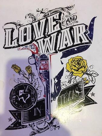 Love & War In Texas: Menu