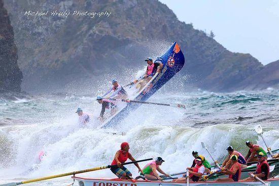 Battle of the Boats, Elizabeth Beach, Barrington Coast, NSW Australia. Photo courtesy of Michael Hruby Photography