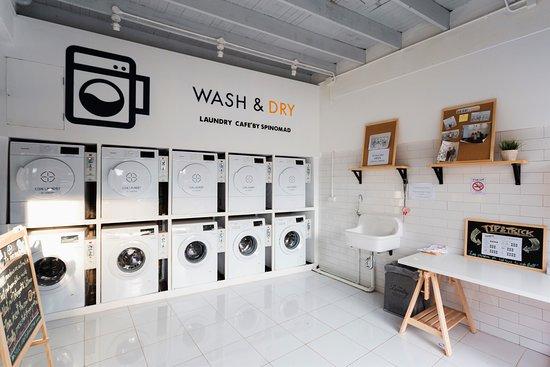 Kinh nghiệm mở tiệm giặt là kinh doanh hiệu quả Laundry-area