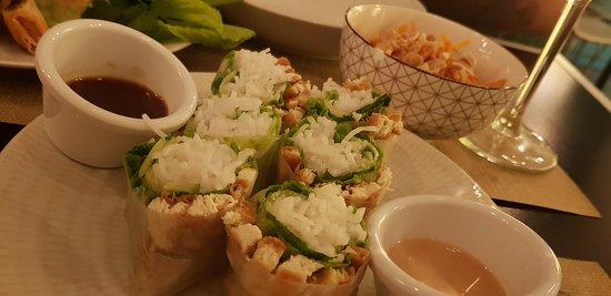 Rollos frescos de tofu