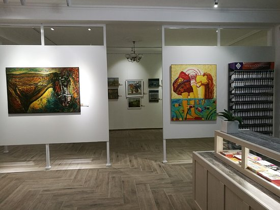 The gallery offers a cherry-picked selection of paintings for sale by local contemporary artists.