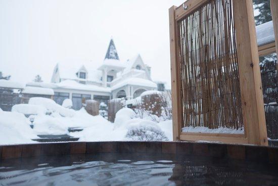 Sento Spa: Vue sur la villa enneigée