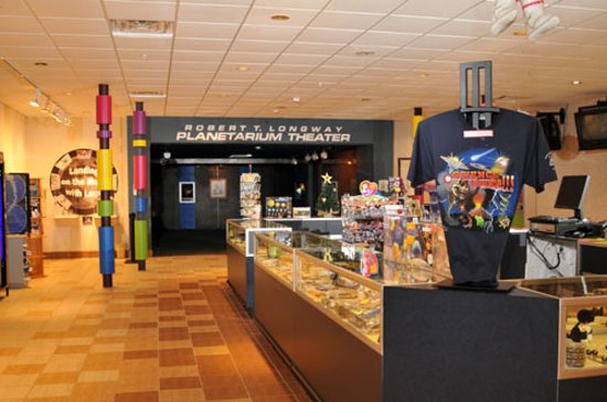 Longway Planetarium's gift shop offers fun and educational souvenirs, from real rocks and minerals to t-shirts and posters. It's a great place for seasonal shopping as well!