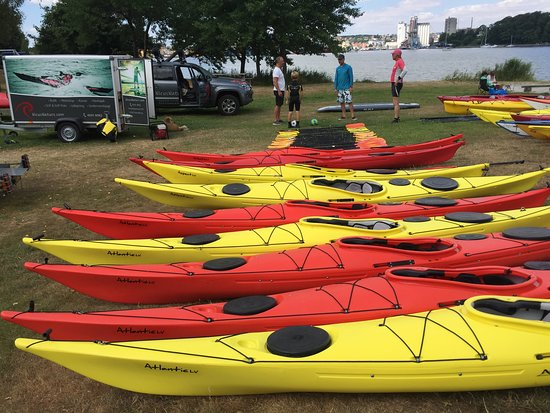 Funen and Islands, Danska: Sea kayak on the camp