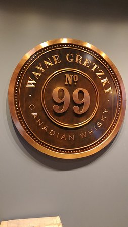 Wayne Gretzky tasting room.