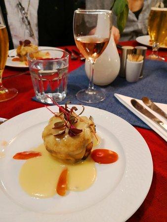 Havneby, Denmark: 1. course baked in salmon