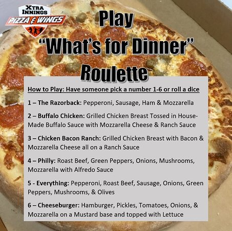 """Salem, AR: Play """"What's for Dinner"""" Pizza Roulette!"""
