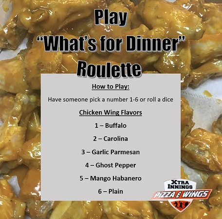 "‪‪Salem‬, أركنساس: Play ""What's for Dinner"" Wings Roulette!‬"