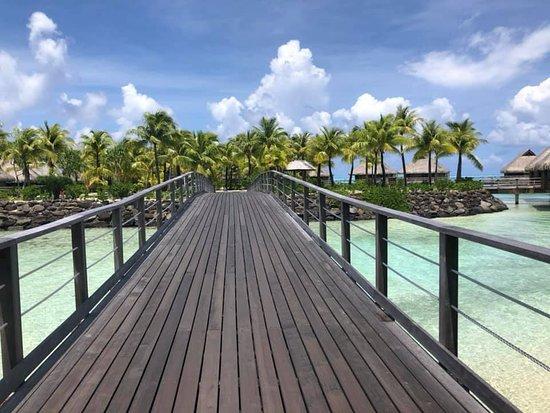 Conrad Bora Bora Nui: The bridge I crossed getting to my villa.
