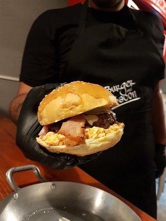 Burger and Bacon