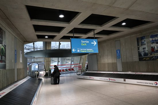 Paris-Charles-de-Gaulle-flygplatsen: 荷物を受け取って出口へ