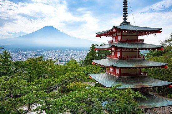 Lugares turísticos de Mt Fuji y el lago Kawaguchi en un día en...