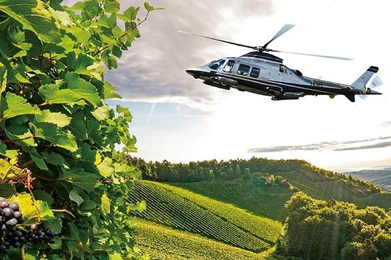 Helicopter Wine Tour over San...