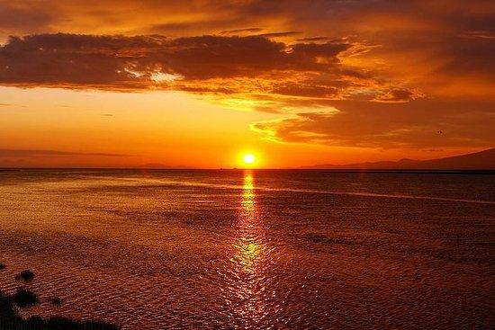 Coucher de soleil de Sorrente à Capri
