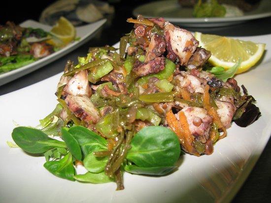 Salát s chobotnicí a kritamo