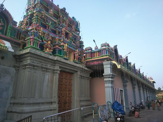 Samayapuram Mariamman Temple: Another view of the gopuram