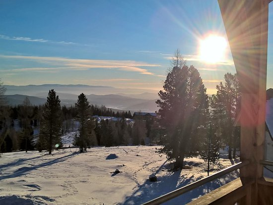 Sirnitz, Austria: morgentliche Aussicht vom Balkon