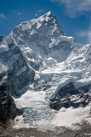 Mount Everest: Nuptse (25,791 feet). Seen while on the trek up the Khumbu Valley to Everest Base Camp