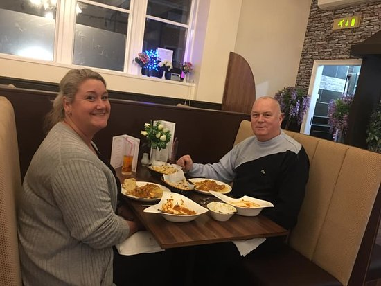 Our facebook competition winners enjoying there lovely food!