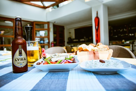 Chrissi Akti, Greece: lunch at anais holiday