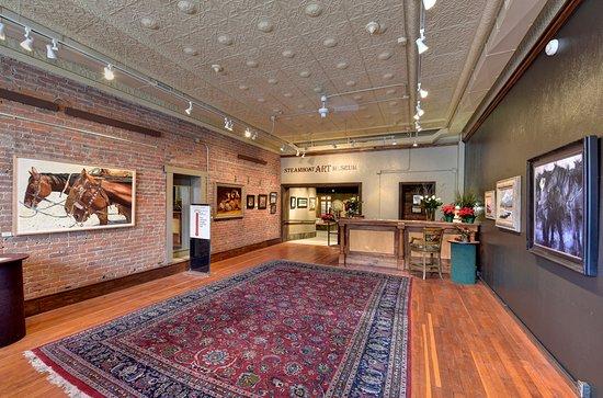 Museum entrance, Macnab Gallery, in original First National Bank/Rehder Building built in 1905.