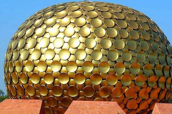 Tur til Auroville fra Pondicherry...