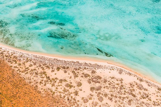 This is what you see on our  1 hr scenic flight over the  World Heritage NINGALOO REEF - Western Australia !!