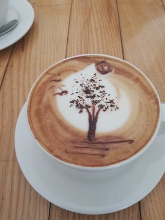 Mocca coffee latte art