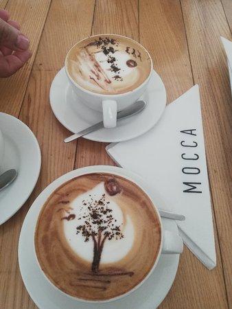 Mocca coffee latte art