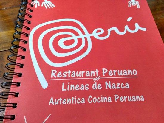 Restaurant Peruano Lineas de Nazca: Menu