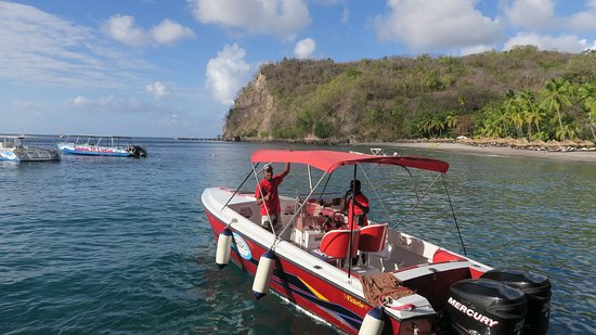 Private Speedboat Cruise and Snorkel Tour in St Lucia Fotografie