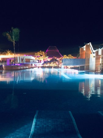 Party Pool at night