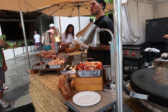 Seafood Buffet Cooking La Hiki Kitchen Breakfast Restaurant
