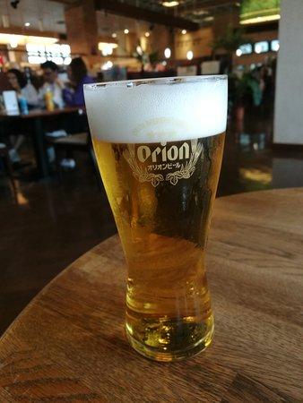 Orion Happy Park Orion Beer Garden Yambaru no Mori: 出来立ての生ビール