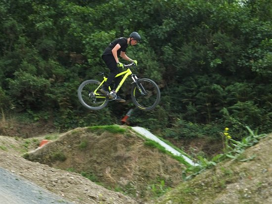 Portreath, UK: One of the jumps