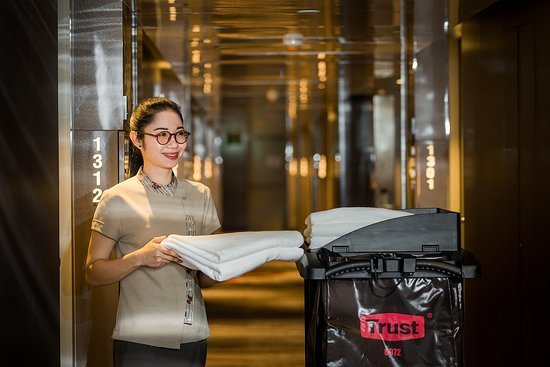 Observant housekeeping staff carefully tend to guest's belonging and personal items each day.