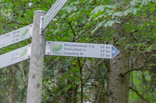 Ernzen, Deutschland: Oznakowanie szlaku
