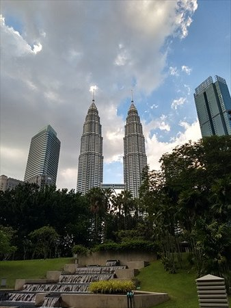 View of Petronas Towers from outside the hotel.